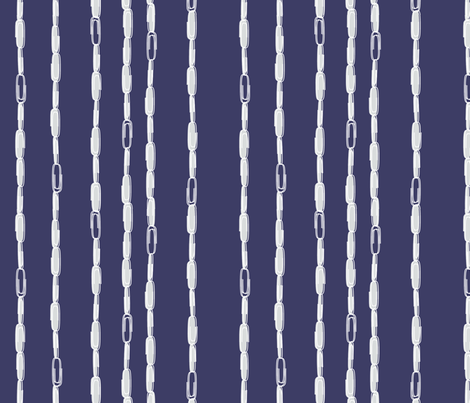 "PAPERCLIP RAIN in  ""MIDNIGHT"" fabric by trcreative on Spoonflower - custom fabric"