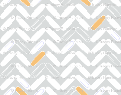 "PAPERCLIP CHEVRON  in ""CREAMSICLE"""