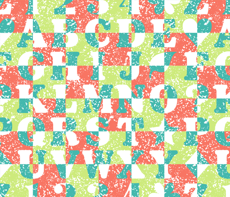 Alphabet fabric by tracymillerdesigns on Spoonflower - custom fabric