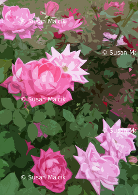 Pink Rose Mosiac