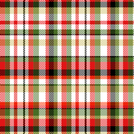 Christmas Plaid fabric by mag-o on Spoonflower - custom fabric