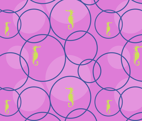 "BUBBLY  in ""FUCHSIA & NAVY"" fabric by trcreative on Spoonflower - custom fabric"
