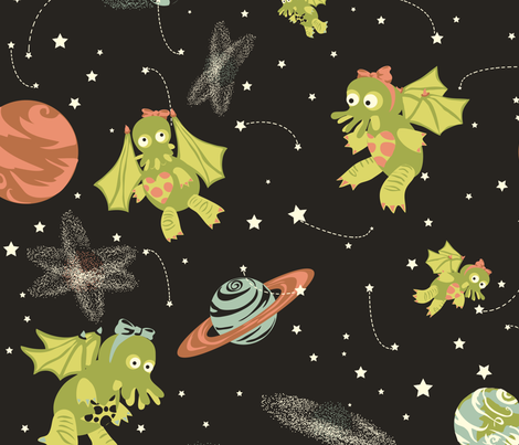 Monster Origins fabric by marlene_pixley on Spoonflower - custom fabric