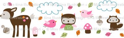 Woodsie Cuties - In Pink