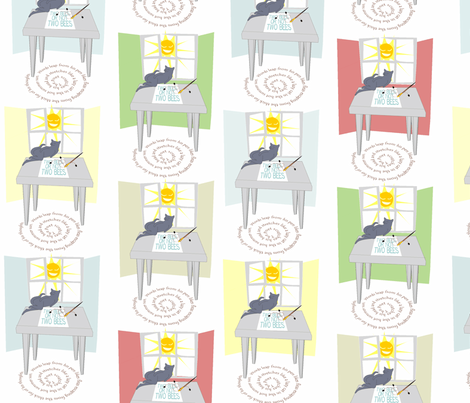© 2011 The Poet fabric by glimmericks on Spoonflower - custom fabric