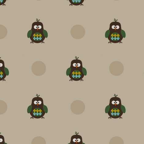Argyle Owl fabric by mayabella on Spoonflower - custom fabric