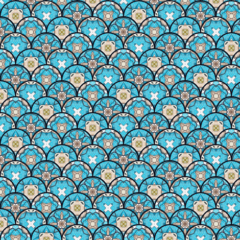 Ridorius's Disks - Scalloped fabric by siya on Spoonflower - custom fabric