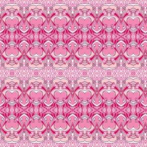 Art Nouveau Valentine in pink