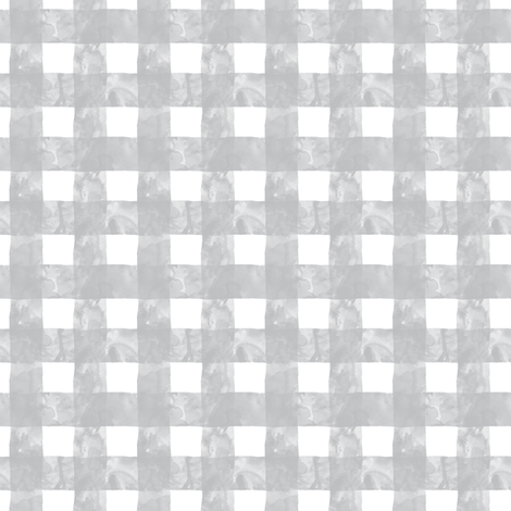Small Painted Gingham (Whisper Grey) fabric by leighr on Spoonflower - custom fabric