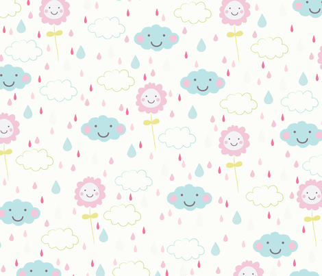 happy rain fabric by mondaland on Spoonflower - custom fabric
