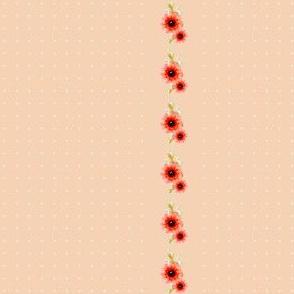 Victorian Poppy and Polka Dots