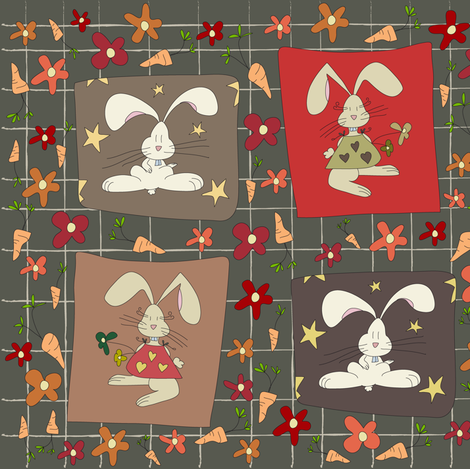 [SMALL] Carrot's Prayer fabric by catru on Spoonflower - custom fabric