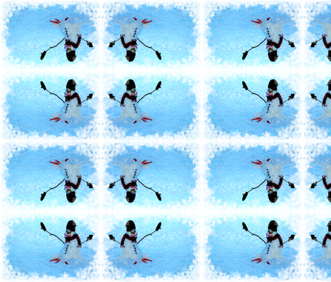 Let It Snow, Man! fabric by robin_rice on Spoonflower - custom fabric