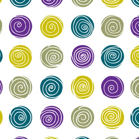 Spirals fabric by camila_jafelice on Spoonflower - custom fabric