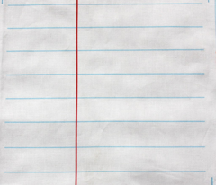 Lined Paper- White College Rule