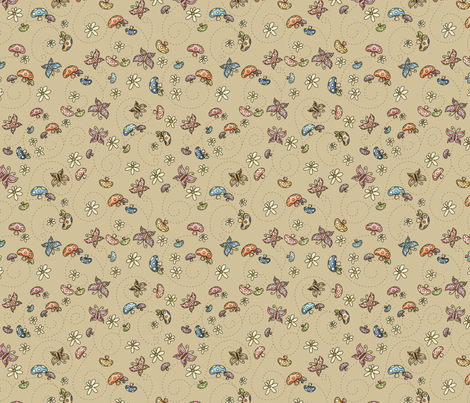 Gnomeland - Magic fields fabric by catru on Spoonflower - custom fabric