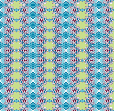 Can't Wait To Tie the Knot (Celtic influenced vertical stripe) fabric by edsel2084 on Spoonflower - custom fabric