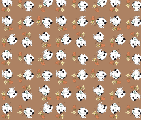Cowing around  fabric by catru on Spoonflower - custom fabric