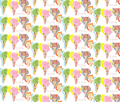 ice_cream_cones__by_marilyn_nepp_sturner__dec_3_2919---____ fabric by mailyn on Spoonflower - custom fabric