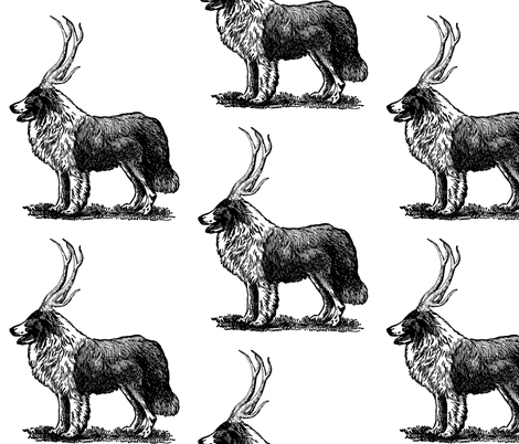 Collie-loper fabric by trollop on Spoonflower - custom fabric