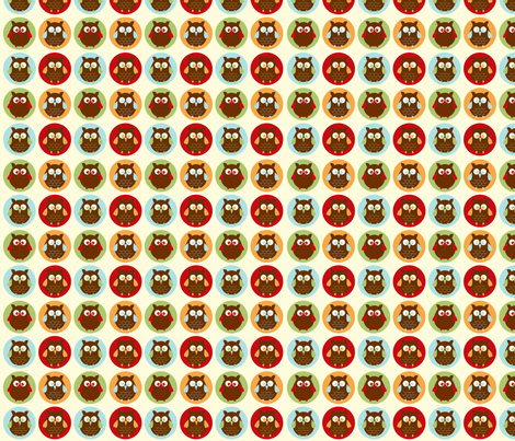 Owl Parade from the Owl Luhv Collection fabric by jpdesigns on Spoonflower - custom fabric