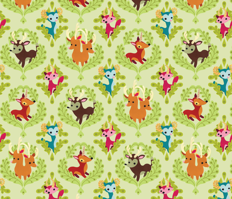 Unidentified Animals fabric by jordan_elise on Spoonflower - custom fabric