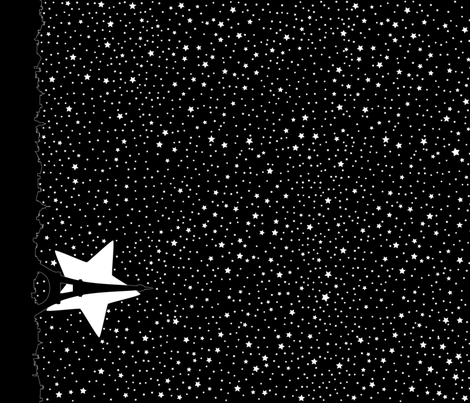 La Star de Paris (border) fabric by mariao on Spoonflower - custom fabric