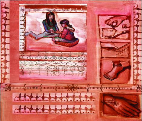 mehndi_poem_fabric_art fabric by slick on Spoonflower - custom fabric