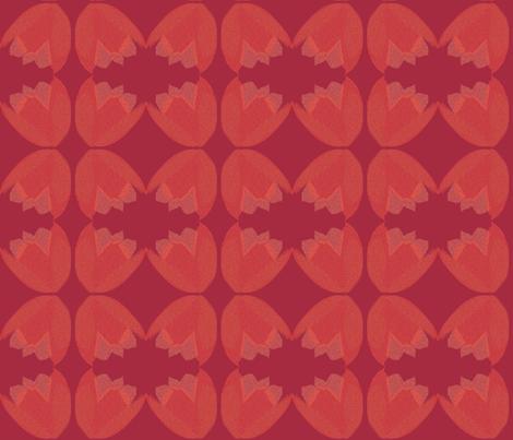 POINTALLISM TULIP red fabric by heatherrothstyle on Spoonflower - custom fabric