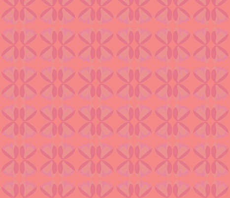 POINTALLISM TULIP pink fabric by heatherrothstyle on Spoonflower - custom fabric