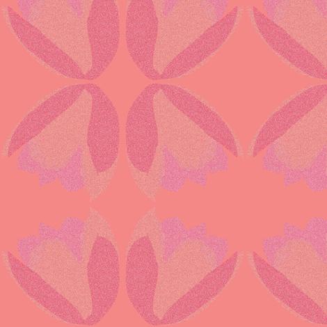 POINTALLISM TULIP pink fabric by heatherrothstyle on Spoonflower - custom fabric
