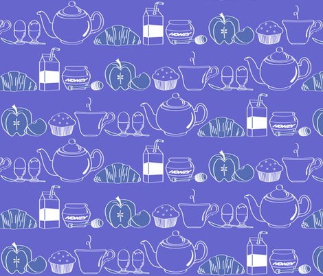 Continental Blue Inverse fabric by jmckinniss on Spoonflower - custom fabric