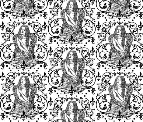 Compassion / damask fabric by paragonstudios on Spoonflower - custom fabric