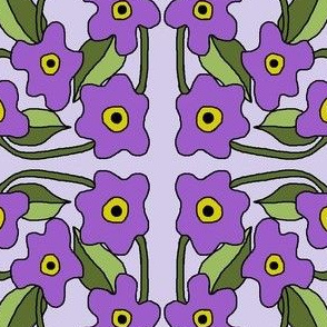 Intoxicating Posies Purple(plain leaves)