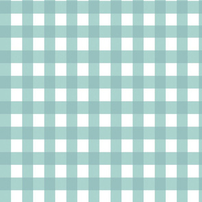Gingham blue fabric