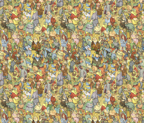 Awful Ogre's Awful Day fabric by paul-ny on Spoonflower - custom fabric