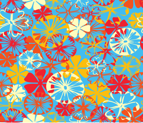 Daisey Doodles fabric by deeniespoonflower on Spoonflower - custom fabric