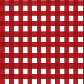 gingham red delicious country fabric