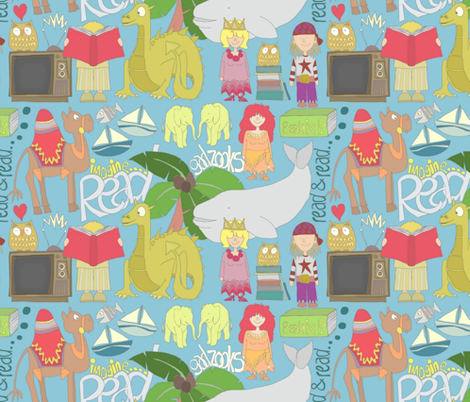 GADZOOKS.... (Television by Roald Dahl) fabric by scrummy on Spoonflower - custom fabric