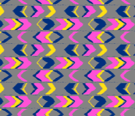 tribal baby in gray fabric by domesticate on Spoonflower - custom fabric