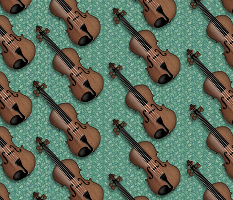 © 2011 VIOLIN - Vintage Green-Blue fabric by glimmericks on Spoonflower - custom fabric