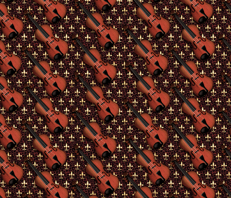 © 2011  VIOLIN - Regal Red Leopard fabric by glimmericks on Spoonflower - custom fabric