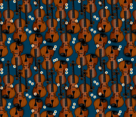 © 2011  VIOLIN - Daisies fabric by glimmericks on Spoonflower - custom fabric