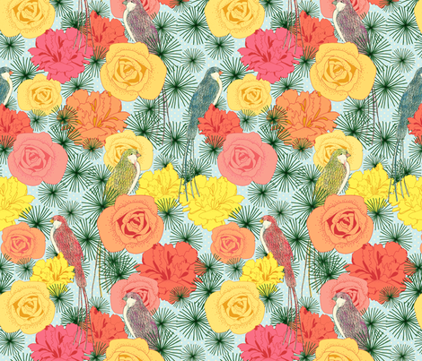 Sunny Birds fabric by lydia_meiying on Spoonflower - custom fabric