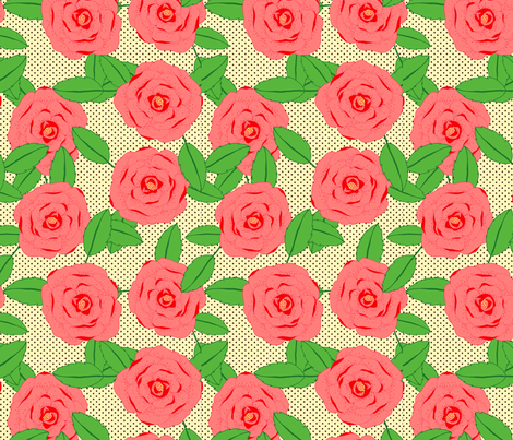 Spotty Rose fabric by lydia_meiying on Spoonflower - custom fabric