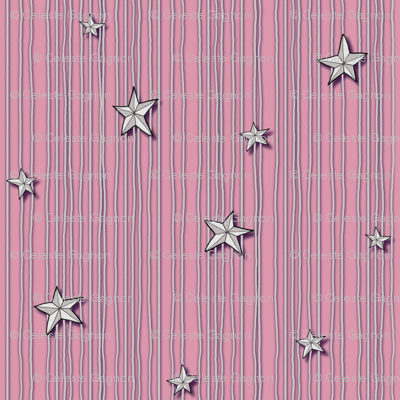 Paper Stars Pink