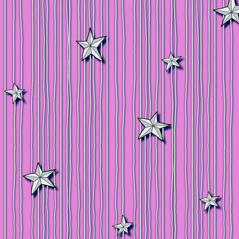 Paper Stars Pink-ed fabric by celestegs on Spoonflower - custom fabric