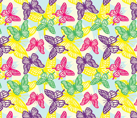 Mister Butterfly fabric by lydia_meiying on Spoonflower - custom fabric