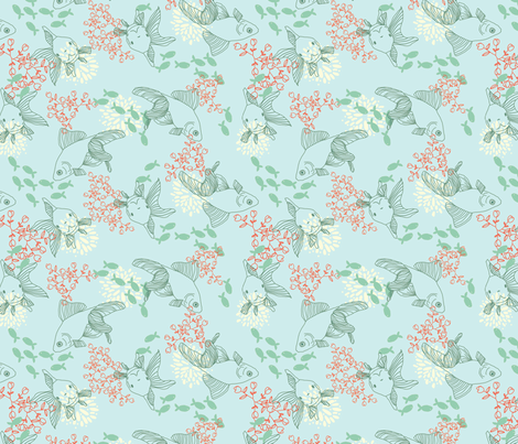 Goldfish Bowl fabric by lydia_meiying on Spoonflower - custom fabric