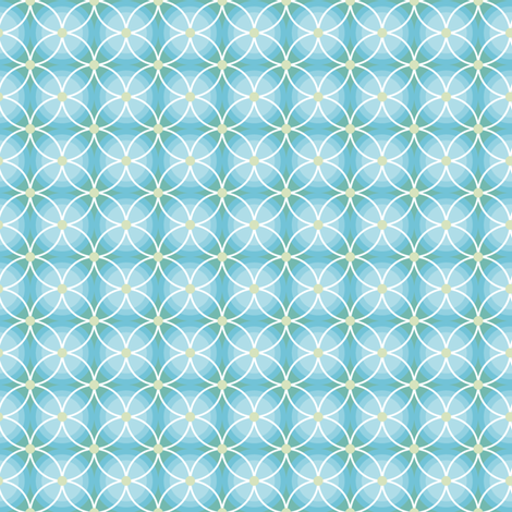 Aqua Blue Circles fabric by countrygarden on Spoonflower - custom fabric